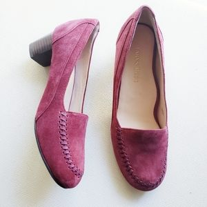Taryn Rose Suede Joy Loafers Cranberry Size 6